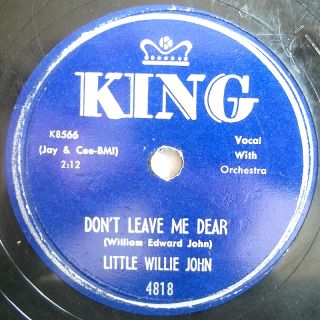Little Willie John King Blues 78 All Around The World
