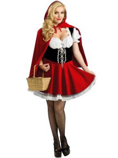 J6 Ladies Little Red Riding Hood Storybook Fancy Dress Halloween
