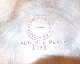 Victorian Little River Pickle Castor Silver Plate Frame EAPG Antique A