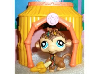 Littlest Pet Shop Monkey 946 Accessories Jungle Hut House RARE Lot