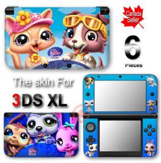 Littlest Pet Shop Skin Vinyl Sticker Decal Cover 2 for Nintendo 3DS XL
