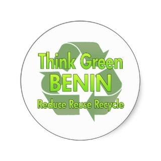 Think Green Benin Sticker