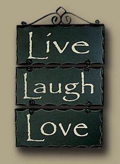 Live Laugh Love Faith Family Signs Rustic Plaque Home Decor