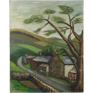 Patricia Livesey Landscape Modernist Oil Painting