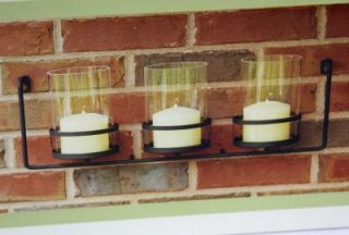 Indoor Outdoor Hanging Triple Candle Holder Patio Deck