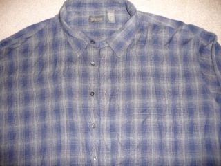 Big Tall Alexander Lloyd Blue Plaid Sport Shirt 4XLT