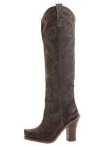 Lisa for Donald Pliner Bark Western Boots Espresso Graphite New 8 38 5