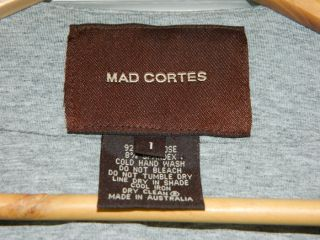 Mad Cortes by Lisa HO Womens Grey Bolero Jacket Top Sz 1 or 10