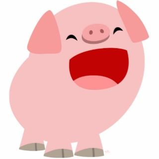 Cute Cartoon Singing Pig Photosculpture Cut Outs