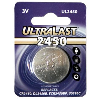 Ultralast CR2450 Lithium 3V Coin Cell Battery DL2450 CR2450N