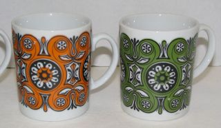 Set of 4 Funky China Coffee Cups Mugs Lobeco Made in Japan