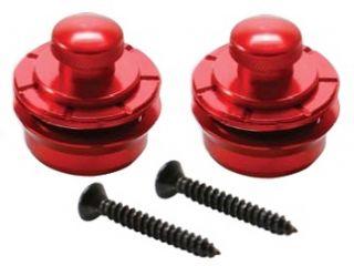 Guitar Parts Hennessey Straplocks Strap Locks Set 2 Red