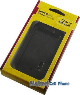 New Otterbox Defender Black Case Belt Clip Holster for Motorola Photon