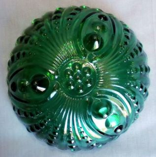 Vtg Anchor Hocking Burple Forest Green Berry Bowl