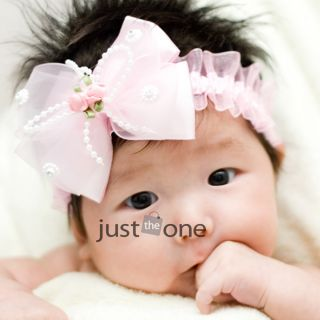 Cute Baby Little Girl Children Kids Hair Sweet Bowknot Hair Band