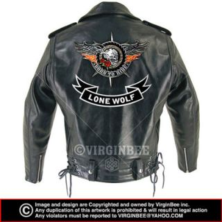 Lone Wolf Biker Jacket Vest Lower Rocker Large Patch