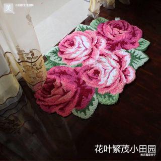 Rose BathBathroom Bedroom Living Floor Door Mat Rug k Style 70x110cm