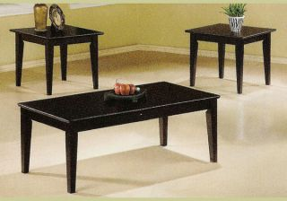 Piece Wood Coffee End Table Set Wooden Tables New