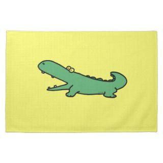 funny crocodile towel