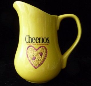 General Mills Cheerios Ceramic Yellow Pitcher 32 Oz