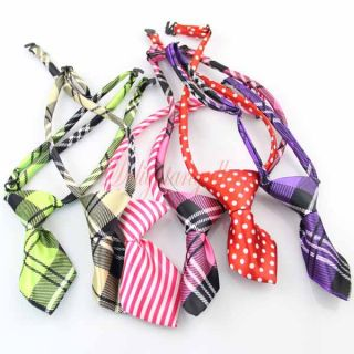 London Plaid Pet Dog Cat Handmade Bow Tie Necktie Clothes Costume 6