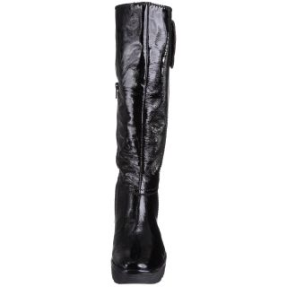 Fly London Womens Yule Black Patent Cheap New Leather Long Boots