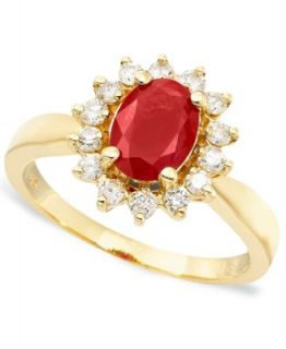 Royalty Inspired by Effy Collection 14k Gold Ring, Ruby (1 3/8 ct. t.w