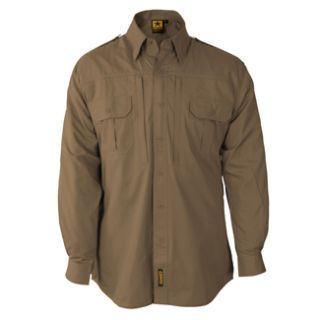 TAN LIGHTWEIGHT LONG SLEEVE TACTICAL DRESS SHIRTS clothing military