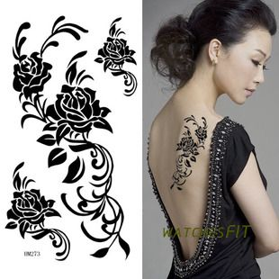 10 Sheets Blue Dragon Loong Fashion Waterproof Tattoo Sticker