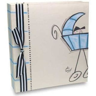 Baby Carriage Looseleaf Baby Book Boy by Penny Laine