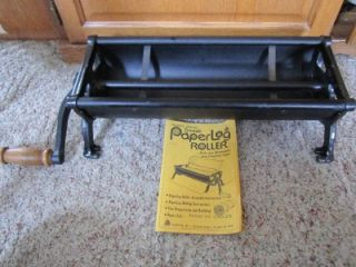 Vintage Bench Model Fireplace Newspaper Paper Log Roller