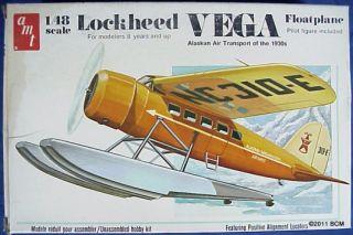 Lockheed Vega Floatplane AMT Model Kit 1 48 Vintage