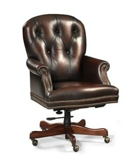Harrison Leather Home Office Chair, Swivel
