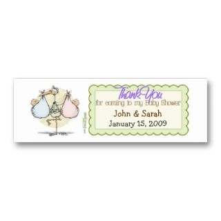 Stroller Baby Shower Favor Tag Business Card Templates