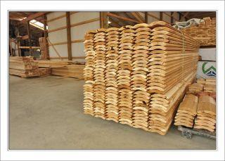 Red cedar log and antler nightstand lamp for 2x6 log siding