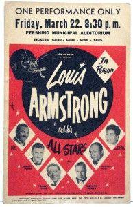 Louis Armstrong RARE Original 1957 Concert Poster