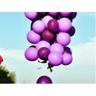 Blue Balloons Hot Air Cluster Photo Cut Outs