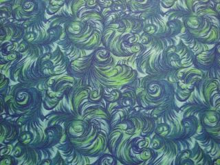 Feathers Novelty Fabric Blue Green F Q Springs Industries Quilting