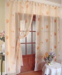 One Piece Lovely Orange Kapok Sheer Curtain Long