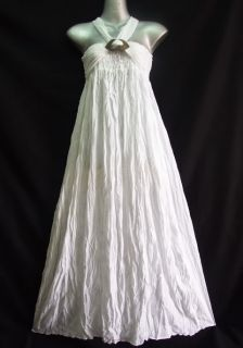 Dye white Dress Long Skirt Summer Maternity 2 in 1 s M L XL