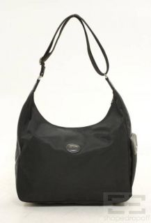Longchamp Black Nylon Tote Bag