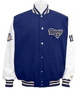 St Louis Rams Official NFL Cotton Super Bowl Jacket by G III s M L XL
