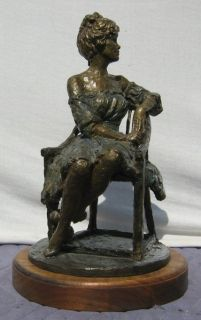 Woman Bronze Figurine by H Blair 1986 Loni Anderson