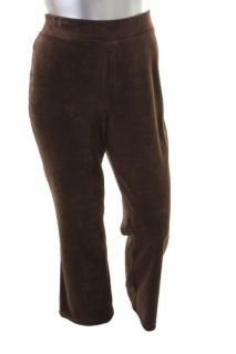 New York New Brown Stretch Velour Lounge Pants Plus 1x BHFO