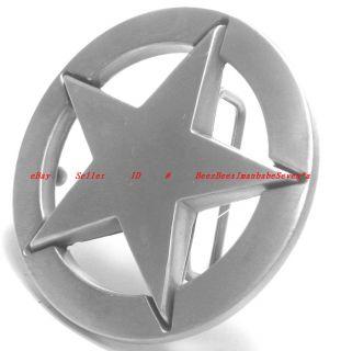 BBG1731 Pentagram Rock 5 Point Nautical Star Lone Star Badge Pewter
