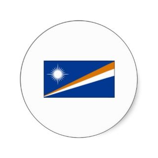 Marshall Islands FLAG International Round Stickers
