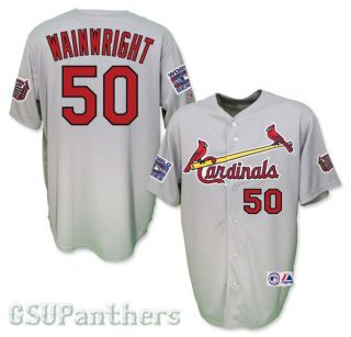 Adam Wainwright 2006 St Louis Cardinals World Series Road Jersey Sz M