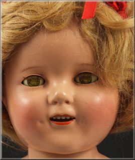 Lovely Ideal Shirley Temple Composition Doll w Sleep Eyes Clothing