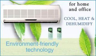 Ton DUAL ZONE Mini Ductless Split Air Conditioner, Heat 36000 BTU