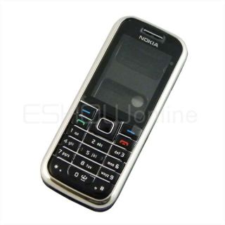 New Black Full Housing Cover Keypad for Nokia 6233 to Replace Original